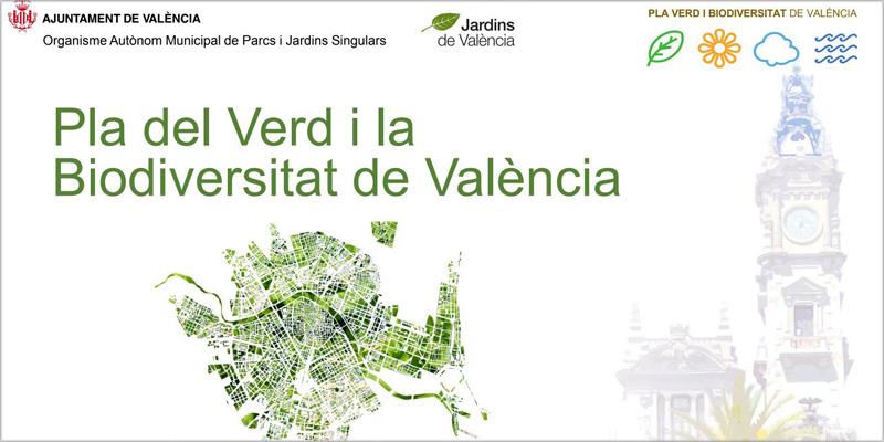 Valencia saca a licitación la redacción del Plan Verde y de la Biodiversidad para poner a la ciudad a la vanguardia de ciudades verdes y sostenibles.