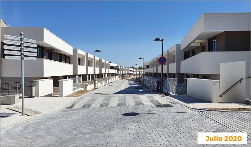 Estado de construcción de la urbanización Célere Cortijo Norte el pasado mes de julio.