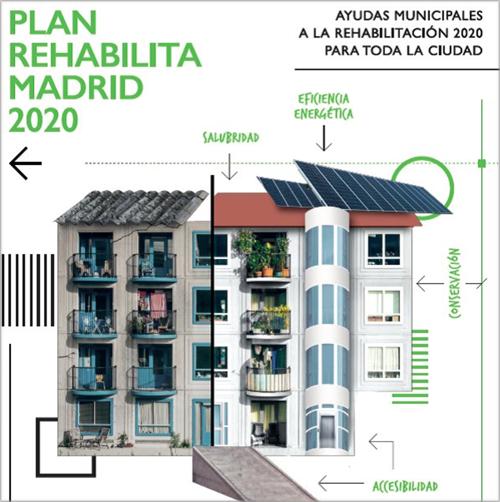 Rehabilita 2020 mejora el porcentaje de las ayudas e incluye todos los barrios de Madrid y los edificios construidos antes de 1996.