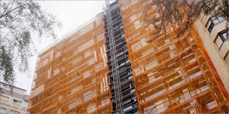 edificio en obras