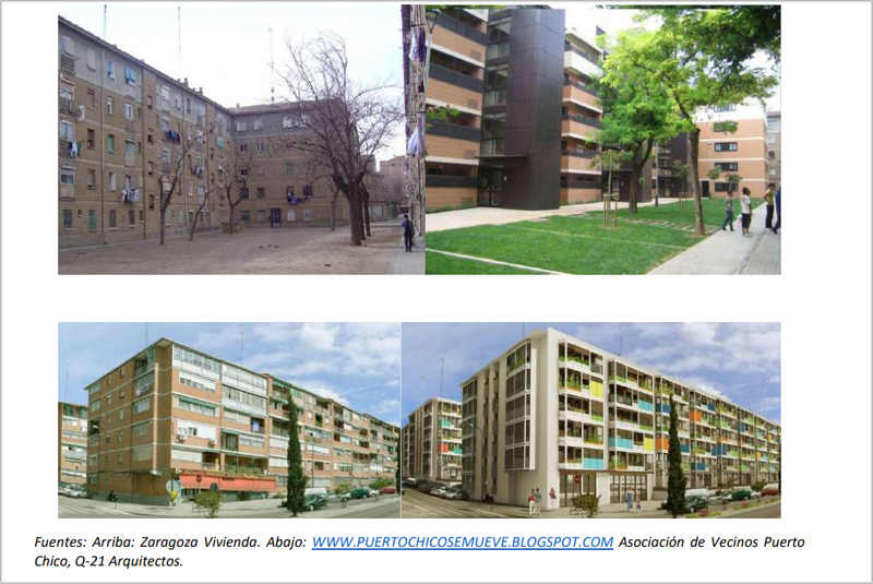 Ejemplos de mejora en la calidad arquitectónica en una rehabilitación que incluye la mejora energética de la envolvente.