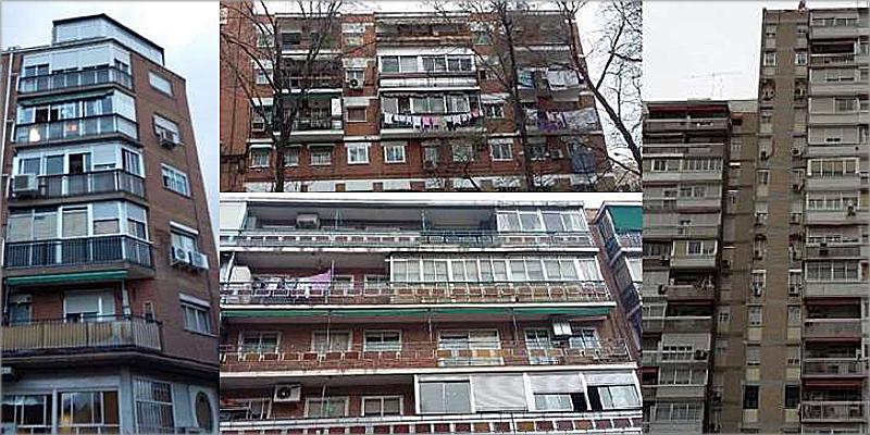 edificios con cerramiento de balcones