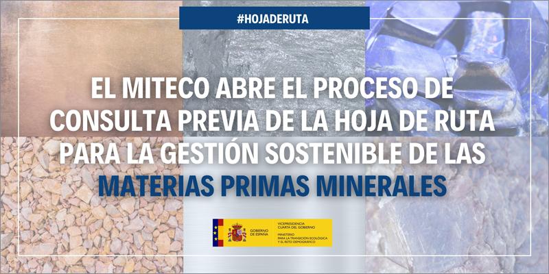 hoja de ruta gestión sostenible materias primas minerales