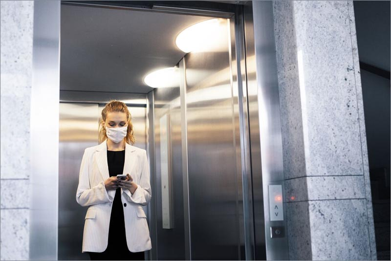 ascensor schindler durante la pandemia