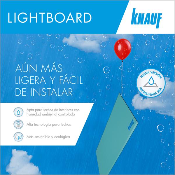 Knauf Lightboard H1, alta tecnología para techos en zonas húmedas de interiores