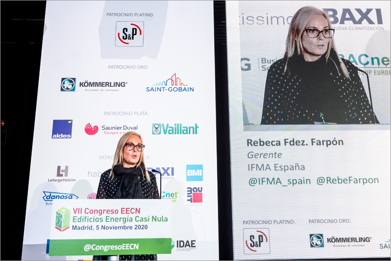 Rebeca Fernández Farpón, gerente de la Sociedad Española de Facility Management, IFMA España.