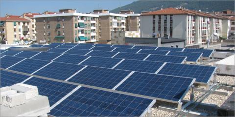 Un mapa solar revelará la capacidad de las cubiertas para generar energía en Pamplona