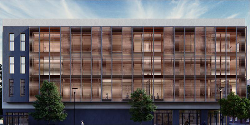 Gradpanel es la solución de fachada pasiva con la madera termotratada de FINSA