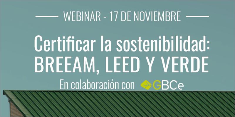webinar certificación de la sostenibilidad