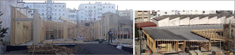 Estructura de Entramado Ligero y Cubierta del Edificio.