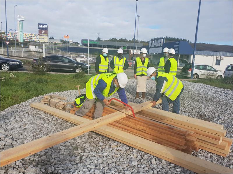 construcción en madera de Impulso Verde