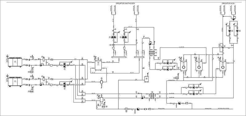 Figura 3. Equema de principio de la instalación térmica del proyecto.