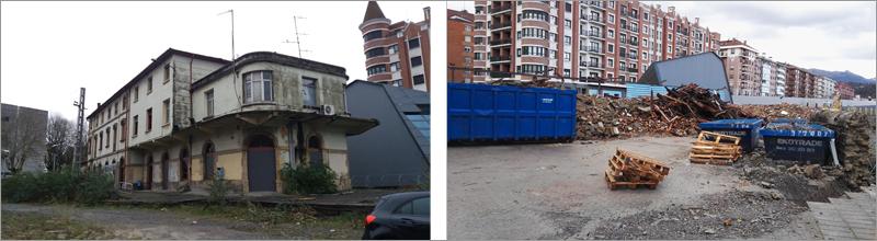 imágenes del edificio de Durango y su demolición