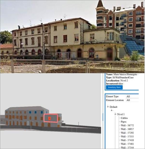 imagen edificio e imagen de la herramienta