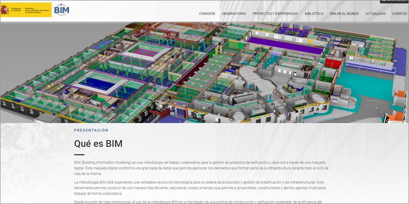 web Comisión Interministerial para la incorporación de la metodología BIM
