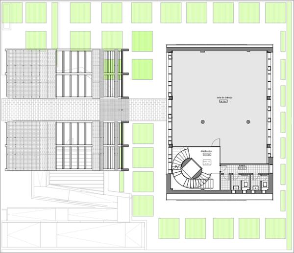 Figura 12. Plano de planta tipo de oficinas.