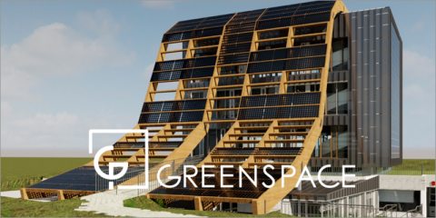 Edificio de oficinas Greenspace PCTG de consumo de energía casi nulo ubicado en Parque Científico Tecnológico de Gijón