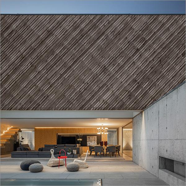 Aplicación de la madera de Lunawood para espacios interiores.