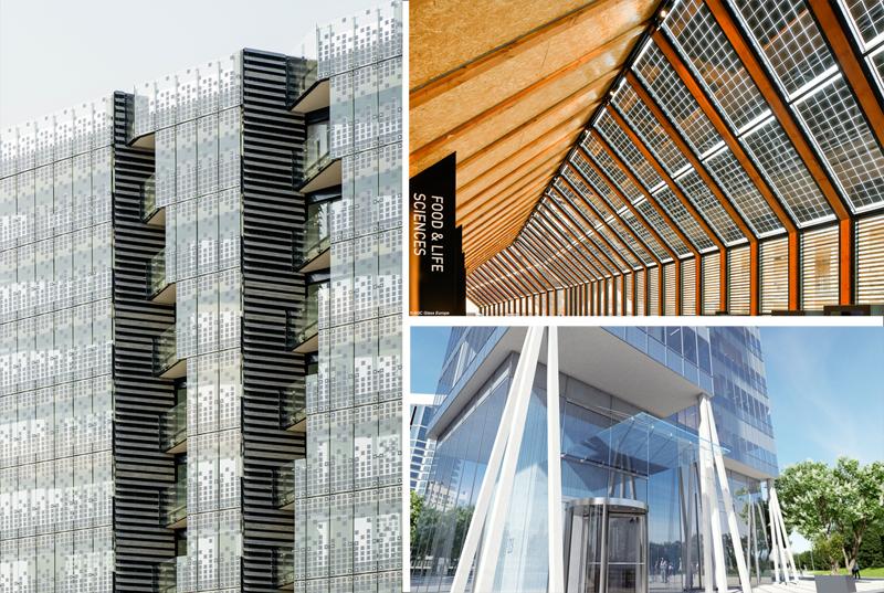 edificios con fachadas solares SunEwat