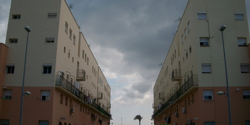 edificios barrio la paz cádiz