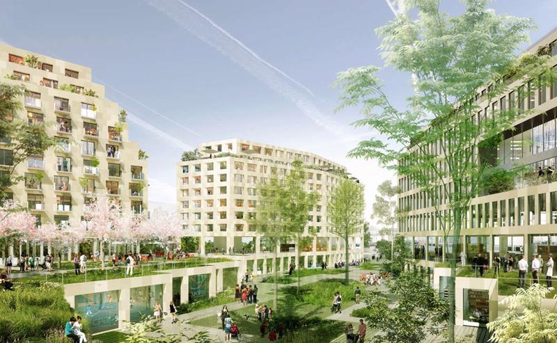 Redender del proyecto 'Îlot Fertile - Eole Evangile, Paris 19