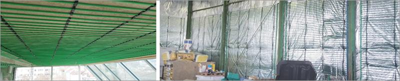 Instalación en el techo. Figura 11. Instalación en la pared con lámina reflectora.