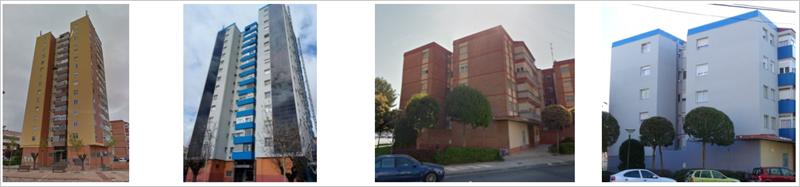 Figura 1. Aislamiento de fachadas y cubiertas (antes y después de la intervención)