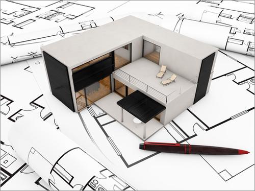 modelo de casa sobre plano