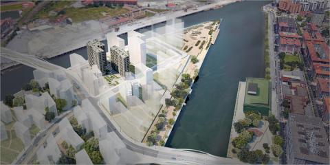 El proyecto de regeneración urbana de Zorrotzaurre, en Bilbao, proyecta la construcción de las primeras viviendas sostenibles