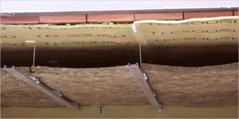 Aislamiento acústico de techos con TECSOUND FT e INSOPLAST AA