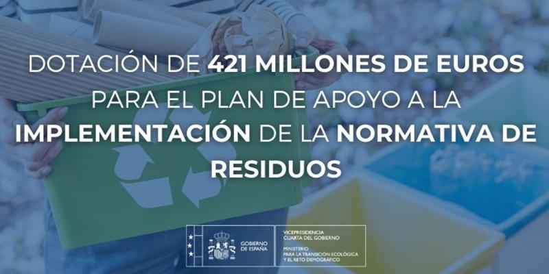 normativa de residuos recibirá 421 millones