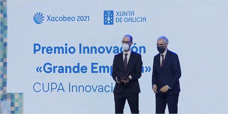 recogida del premio innovación