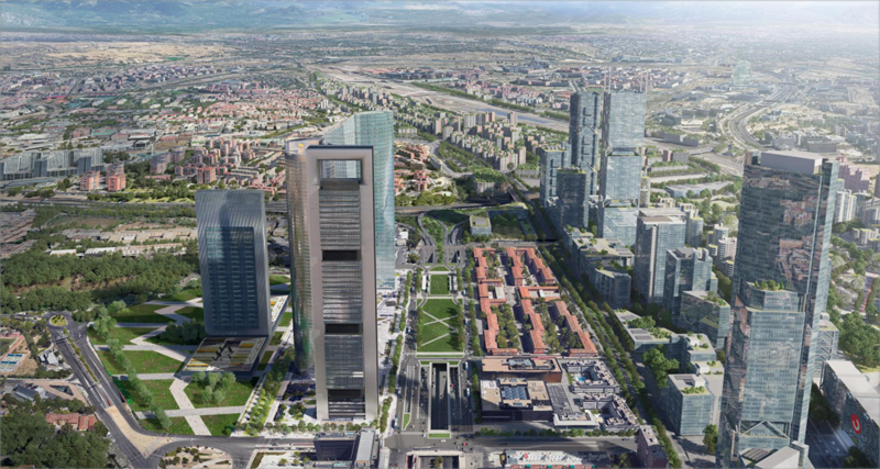Aspecto que tendrá el proyecto de regeneración urbana Madrid Nuevo Norte.