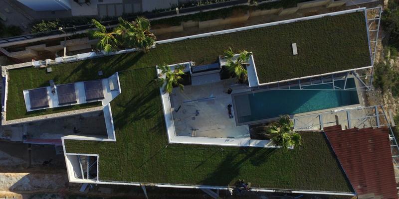 cubierta verde