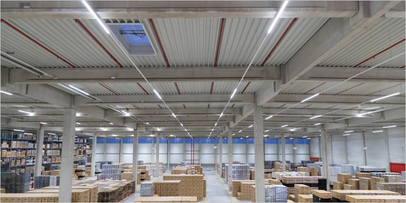 instalaciones de la empresa de logística Kuehne + Nagel en Obergeorgswerder.