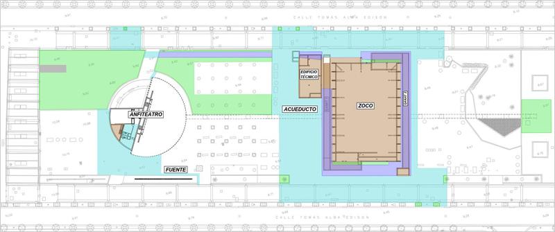Plano en planta de la disposición de las instalaciones.