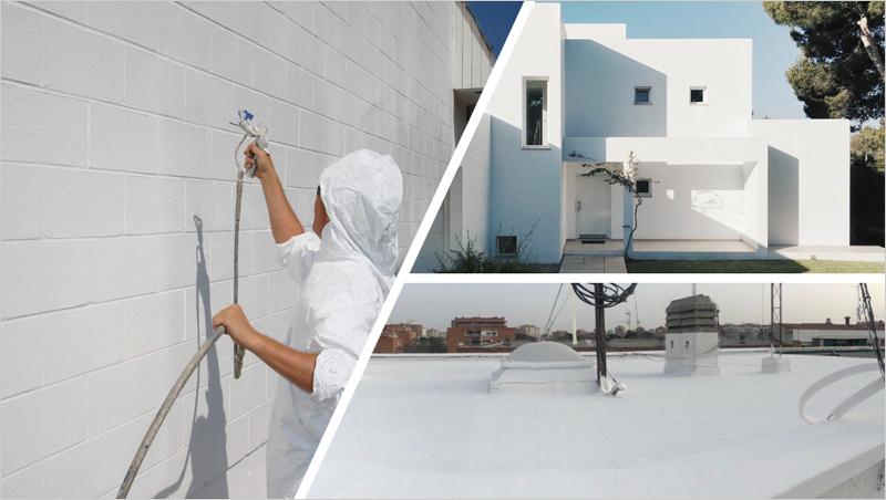 Aplicación Thermacote y Cool Roof