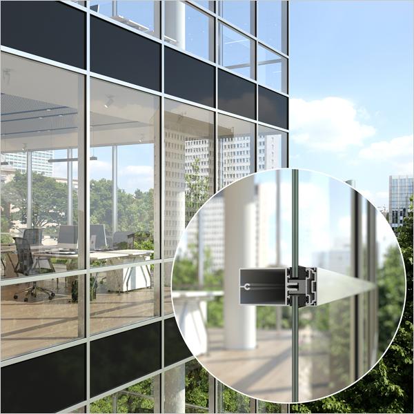 Fineo de AGC se combina con los sistemas de fachada y ventanas Schüco.