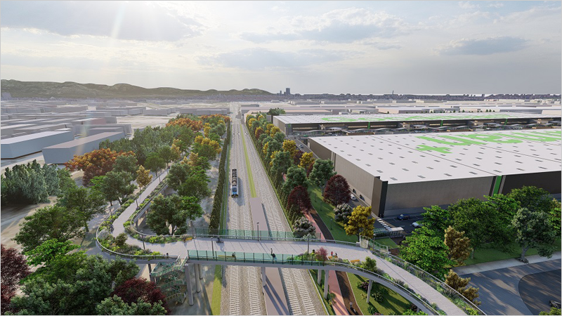 proyecto de reurbanización Getafe Terminal Logistics Centre