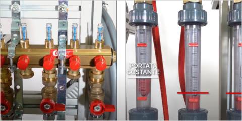 Colectores con válvulas de equilibrado dinámico Giacomini DB