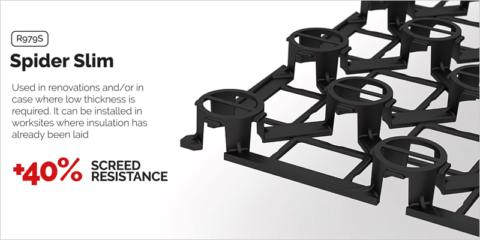Spider Slim, panel de bajo espesor para sistemas radiantes