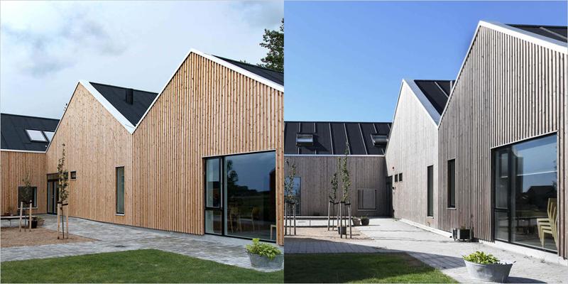antes y después de una construcción con madera lunawood