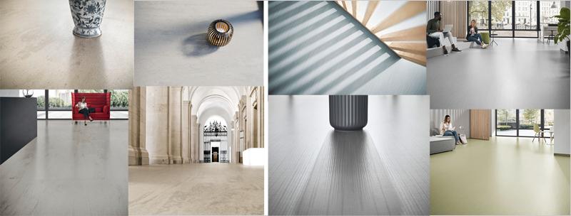 imágenes de suelos con los revestimientos de caucho de interface
