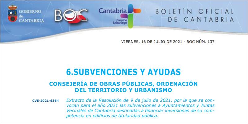 subvenciones cantabria