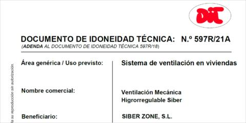 La compañía Siber obtiene el DIT para todo el sistema de ventilación, incluida la red de conductos