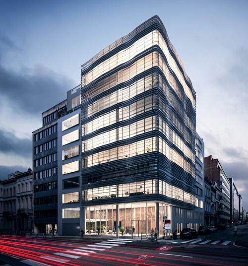 edificio de Bruselas Belk Nine