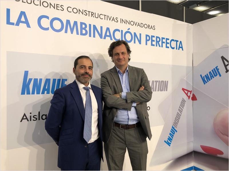 Oscar del Rio, director general de Knauf Insulation y Alberto de Luca, director general de Knauf para España y Portugal