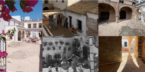 Proyecto de rehabilitación de una casa patio de Córdoba con los morteros de cal hidráulica natural de Grupo Puma