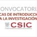 IETcc oferta becas de Introducción a la Investigación para estudiantes universitarios 'JAE Intro ICU'