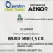 La certificación Operation Clan Sweep acredita el compromiso medioambiental de Knauf Industries